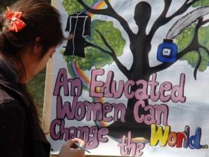 Educating woman