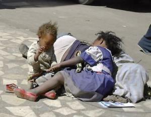 Ethiopia street children
