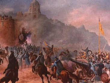 The Battle of Multana 1579, India.
